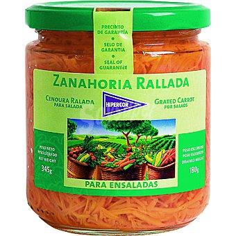 Hipercor Zanahoria rallada para ensaladas Frasco 180 g neto escurrido