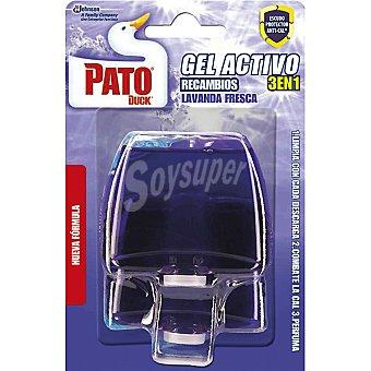 Pato Desinfectante WC gel triple acción lavanda fresca recambio 2 unidades