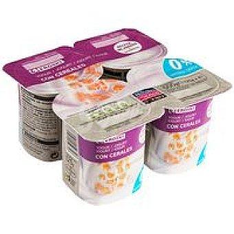 Eroski Yogur desnatado con cereales Pack 4x125 g