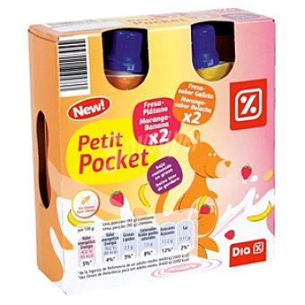 DIA Petit liquido fresa/galleta, fresa/platano Pack 4 botellas x 100 ml