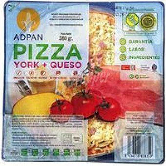 Adpan Pizza de york-queso sin gluten Bandeja 380 g