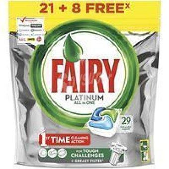 Fairy Lavavajillas máquina Bolsa 21+8 dosis