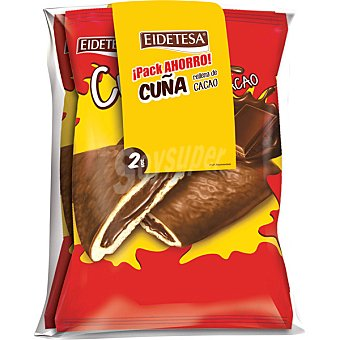 Eidetesa Cuña rellena de chocolate paquete 260 g Pack ahorro 2 unidades