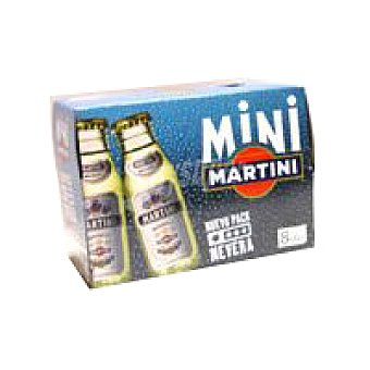 MARTINI Vermut blanco  pack 8 botella 6 cl