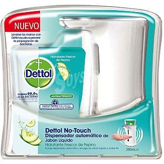 Dettol Dispensador automático de jabón líquido antibacteriano hidratante frescor pepino aparato + recambio