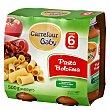 Tarrito de pasta boloñesa desde 6 meses Pack de 2 unidades de 250 g Carrefour Baby