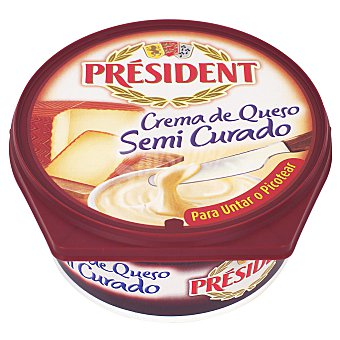 President Crema de queso semicurado Tarrina 125 g