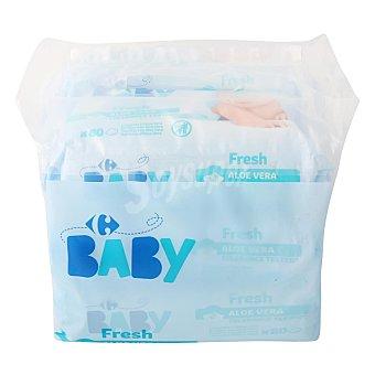 Carrefour Baby Toallitas bebé fresh aloe vera 6 x 80 uds