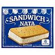 Helado sandwich nata Pack 6 x 100 ml  Hacendado