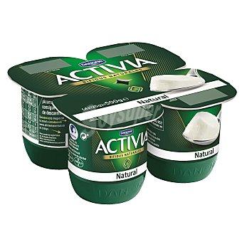 Activia Danone Yogur natural pack 4 unidades 125 g