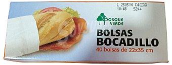 Bosque Verde Bolsa bocadillo 22X30 cm Paquete 40 u