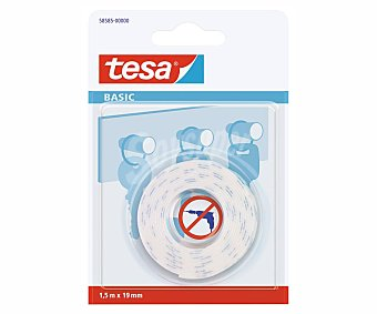 Tesa Cinta adhesiva de doble cara de montaje , 1,5mx19mm, TESA.