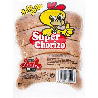 Cuatro Ríos Súper chorizo parrillero de pollo Bolsa 500 g