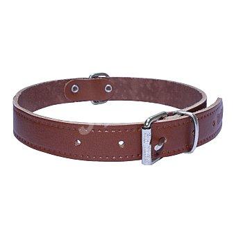 San Dimas Collar de cuero liso para perro color marrón medidas 20x450 mm 1 unidad