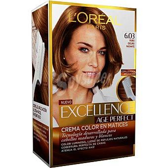 EXCELLENCE Age Perfect tinte rubio oscuro radiante nº 6.03 crema color en matices para cabellos maduros y blancos caja 1 unidad