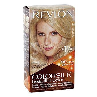 Revlon Color Silk Tinte capilar color rubio claro ceniza nº 80 Caja 1 unidad