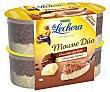 Mousse de chocolate con leche y chocolate blanco 4 x 59 g La Lechera Nestlé