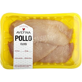 Avefina Filetes de Pechuga de Pollo - Peso Aproximado Bandeja 500 g peso aprox.
