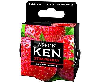 AREON Ambientador en gel para coche, en envase de lata con dosificador y con olor a fresa, serie Ken 1 unidad