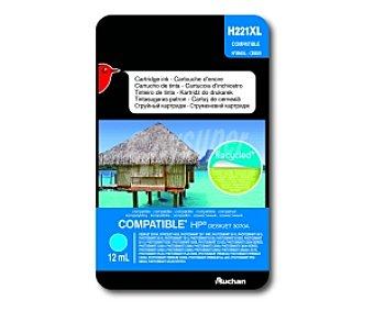 Auchan Cartucho Cian 364XL (H221XL) Compatible con impresoras: desket 3070A, officejet 4620, photosmart 2011 wifi, photosmart 5510 / 5515 / 6510 / 7510 / B109 / B109D / B110 / B207 / B209 / C310D / C5300 series / C5324 / C5380 / C5390 / C6300 series / C6324 / C6380 D5460 / estalion C510 / photosmart plus
