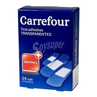 Carrefour Tiras adhesivas transparentes surtidas 24 ud