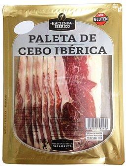 La hacienda del Ibérico Jamón curado lonchas paleta ibérica cebo  Paquete de 100 g
