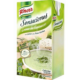 Knorr Crema de espinacas con queso Sensaciones Brik 500ml