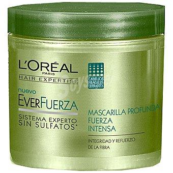 Solar Expertise L'Oréal Paris Mascarilla everfuerza profunda fuerza e intensa para cabellos frágiles y quebradizos Tarro 200 ml