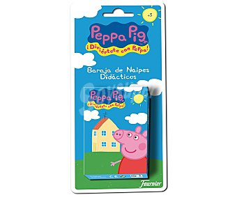 FOURNIER Juego didáctico de 40 cartas infantiles de Peppa Pig 1 unidad