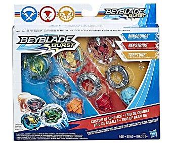 BEYBLADE Trío de batalla Trío de batalla, pack de 3 Beyblades exclusivas burst