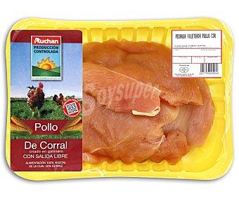 Bandeja de pechuga de pollo de corral fileteada pollo Peso barqueta 530 Gramos Aproximados
