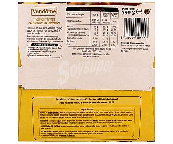 Vendome Panettone con crema de tiramisú y recubierto de cacao 750 gramos