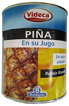 Videca Piña en su jugo rodajas Bote 822 g escurrido
