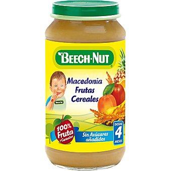 Beech-Nut Tarrito de macedonia de fruta y cereales 100% fruta sin azúcares añadidos Tarro 250 g