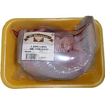 Manzano Ternera lengua bandeja 1 unidad peso aproximado 1 kg