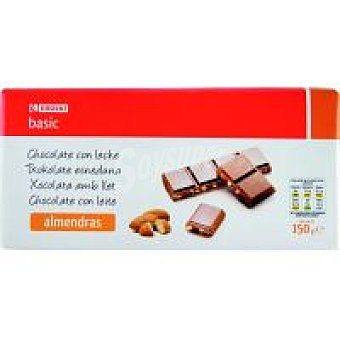 Eroski Basic Chocolate con leche-almendras Tableta 150 g