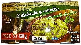 Hacendado Sofrito calabacin cebolla conserva 3 x 160 g