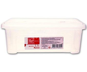 AUCHAN Caja de ordenación con tapa, capacidad de 2,5 litros, fabricada en plástico, 26,2x17x9,6 centímetros 1 Unidad