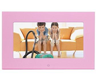 """BRAUN 701 Marco de fotos digital con panalla de 6.5"""", reloj, calencario, mando, color rosa"""