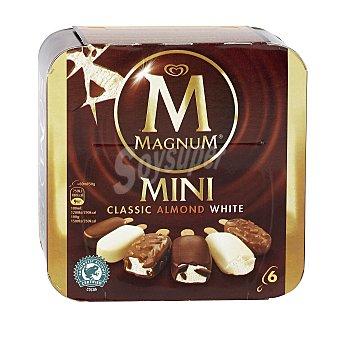 Magnum Frigo Bombón mini surtido de clásico, almendrado y chocolate blanco Caja 6 u x 60 ml (360 ml)