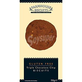 Farmhouse biscuits Galletas con triple chocolate sin gluten Estuche 150 g