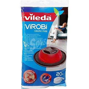 Vileda Recambio de mopa Virobi Atrapapolvo Envase 20 unidades
