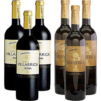 SEÑORIO DE VILLARRICA Vino tinto crianza D.O. Rioja caja + Señorío de Villarrica vino blanco D.O. Rioja 3 botellas 75 cl