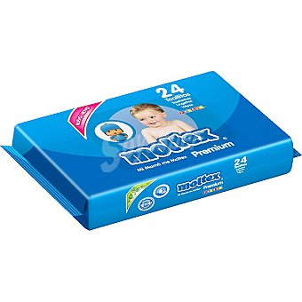 Moltex Toallitas Premiun infantiles con aloe vera envase 24 unidades Envase 24 unidades