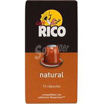 Rico Café Arábica en cápsula Paquete 50 g