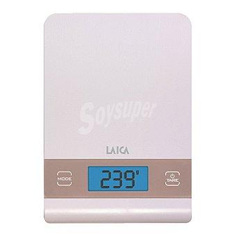 Laica Balanza electrónica de cocina blanco y rosa 5 kg