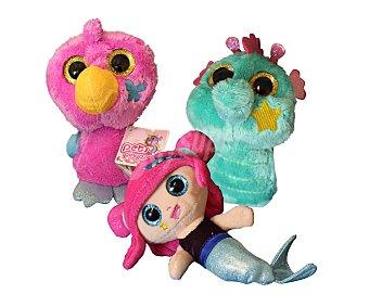 PIN Y PON Mascotas de peluche, coloridas y blanditas, pets 1 unidad