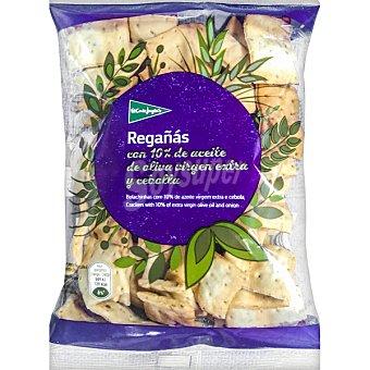 El Corte Inglés Regañás de pan con aceite de oliva virgen y cebolla Bolsa 180 g