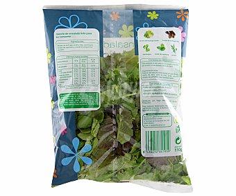 Auchan Ensalada mixticanza (brotes de lechuga verde y roja, canónigos, brotes de espinaca y rúcula), bolsa 110 gramos