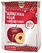 Manzana roja deshidratada 100% natural y crujiente Paquete 20 g Hacendado